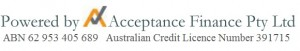 Acceptance with Credit Licence Number
